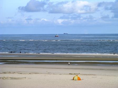 Der weite Strand von der Nordseeinsel Spiekeroog